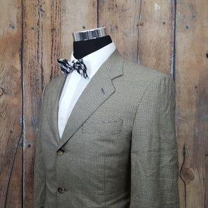 Canali Cashmere Sport Coat Mens 40R Tan Hounds